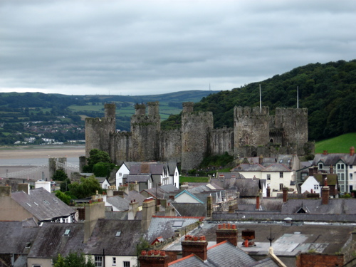 Conwy Castle and town.
